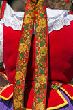 Detail of Polish female folk costume 1 Stock Photo