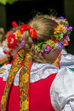 Detail of Polish female folk costume 3 Stock Photos