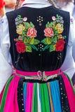 Detail of Polish female folk costume Stock Photography