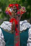 Detail of Polish female folk costume 2 Stock Image