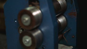 Detail of the polishing apparatus in the industry of creating accessories stock video