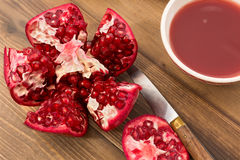 Detail of pomegranate Stock Images