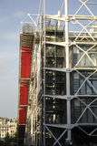Detail of the Pompidou centre in Paris Stock Images