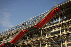 Detail of the Pompidou centre in Paris Royalty Free Stock Images