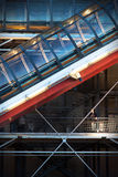 Detail of the Pompidou Centre, Paris, at twilight Stock Photography