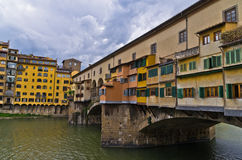 Detail of Ponte Vecchio bridge at downtown of Florence, Tuscany Stock Photos
