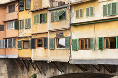 Detail of Ponte Vecchio Bridge Florence Royalty Free Stock Image