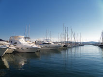 Detail of port in croatia Stock Photography