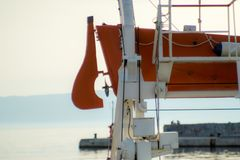 Detail in the port, Rijeka, Croatia royalty free stock photo