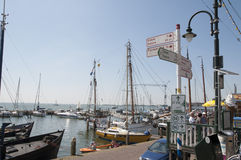 Detail of the port of Volendam Stock Photography