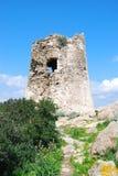 Detail of Porto Giunco Tower in Villasimius (Sardinia) Stock Images