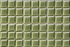 Detail of Portuguese green glazed tiles Stock Image
