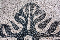 Detail of a portuguese pavement Royalty Free Stock Photos