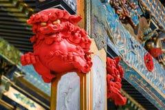 Detail on a post at Taiyuinbyo - the Mausoleum of Shogun Tokugawa Iemitsu Stock Photo