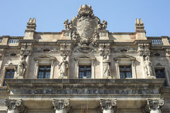 Detail of Post and Telegraph building in Barcelona, Catalonia, S Stock Photos