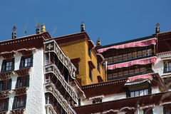 Detail of the Potala Palace, Tibet Stock Images