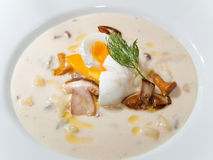 Detail of potato soup Stock Photo