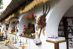 Detail of Pottery house in Tihany at Lake Balaton, Hungary Royalty Free Stock Photos