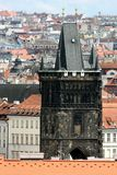 Detail of powder tower in Prague Stock Photo