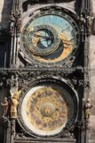 Detail of Prague Astronomical Clock Royalty Free Stock Photos