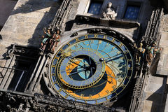 Detail Prague Astronomical Clock, Royalty Free Stock Photos