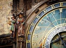 Detail of the Prague Astronomical Clock Stock Image