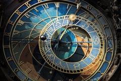 Prague Astronomical Clock. Detail of the Prague Astronomical Clock  in the Old Town of Prague Royalty Free Stock Photography