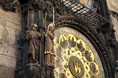 Detail of the Prague Astronomical Clock Royalty Free Stock Images