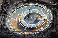 Detail of the Prague Astronomical Clock (Orloj) Stock Photos