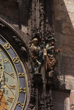 Detail of the Prague Astronomical Clock Stock Photography