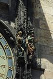 Detail of the Prague Astronomical Clock Stock Images