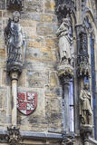 Detail of the Prague Astronomical Clock (Orloj) in the Old Town Stock Images
