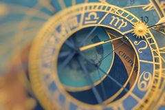 Detail of the Prague Astronomical Clock Orloj in the Old Town. Of Prague Stock Image
