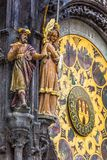 Detail of the Prague Astronomical Clock (Orloj) in the Old Town of Prague Royalty Free Stock Photography