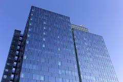 Detail of Prague modern Skyscraper on the blue Sky, Czech Republic Stock Photography