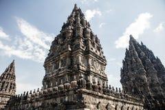 Detail of Prambanan Hindu Temple Royalty Free Stock Photos
