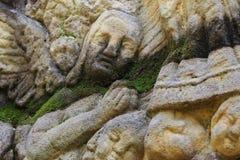Detail of a praying angel Stock Photos
