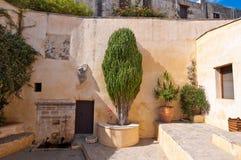 Detail of Preveli Monastery on Crete island, Greece. Royalty Free Stock Photo