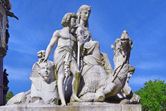 Detail of the Prince Albert Memorial, Hyde Park, London Royalty Free Stock Photography