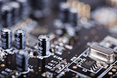 Detail of the printed circuit board Royalty Free Stock Image