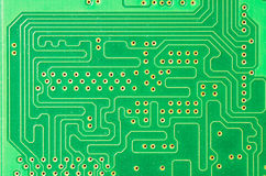 Detail of a printed circuit board Royalty Free Stock Image