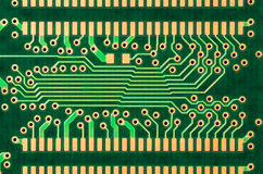 Detail of a printed circuit board Royalty Free Stock Photo