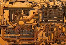 Detail of printed circuit board Royalty Free Stock Images
