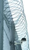 Detail of prison. Details of high security prison on winter day Royalty Free Stock Photography