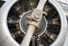 Detail ofa propeller Royalty Free Stock Images