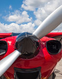Detail of a Propeller Aircraft's Prop and Engine Royalty Free Stock Images