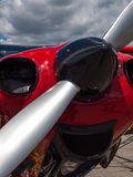Detail of a Propeller Aircraft's Prop and Engine Stock Photos
