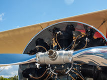 Detail of a Propeller Aircraft's Prop and Engine Royalty Free Stock Photos