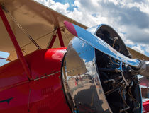 Detail of a Propeller Aircraft's Prop and Engine Royalty Free Stock Photography