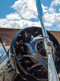 Detail of a Propeller Aircraft's Prop and Engine Stock Images